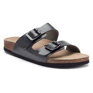 Madden Girl Breckk Buckle Footbed Sandals